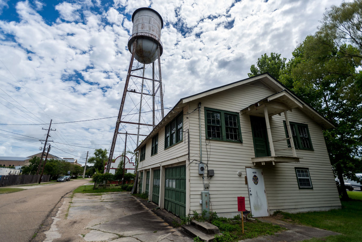 The old Covington fire house on North Theard Street, photographed on July 13, will soon be renovated and turned into a community center.